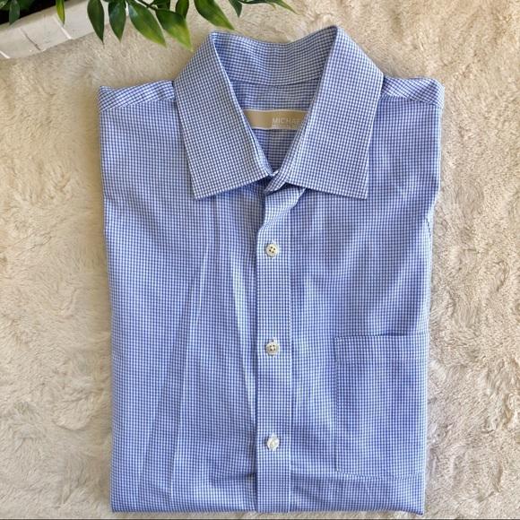 MICHAEL Michael Kors Other - Michael Kors blue white check button up shirt